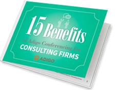 consulting firms choose adigo conferencing
